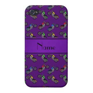 Motocicletas púrpuras conocidas personalizadas iPhone 4/4S fundas