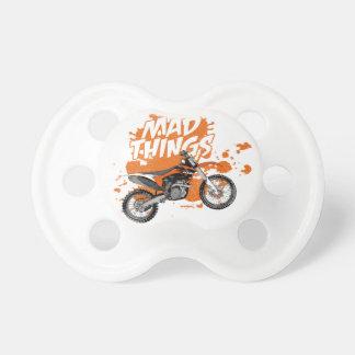 Motocros addict baby pacifier