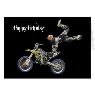 motocrós aéreo #2 tarjeta de felicitación
