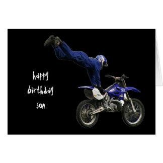 motocrós aéreo #3 tarjeta de felicitación