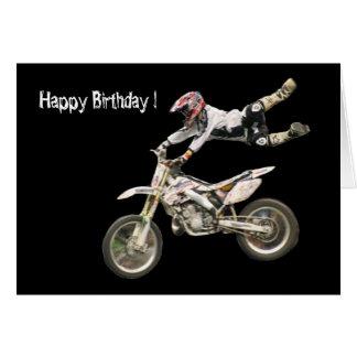 motocrós aéreo #4 tarjeta de felicitación