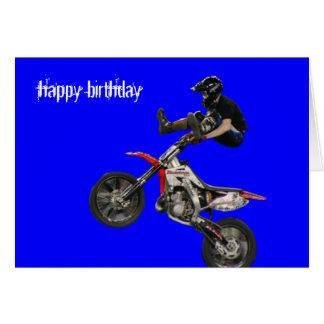 motocrós aéreo #6 tarjeta de felicitación