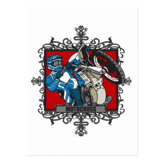 Motocrós agresivo tarjetas postales