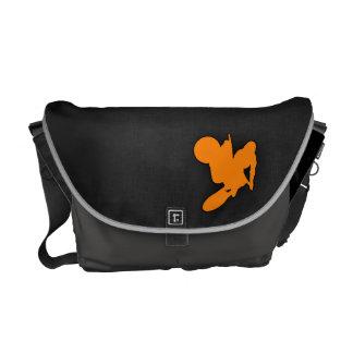 Motocrós anaranjado bolsas de mensajería