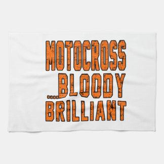 Motocrós Bloody brillante Toalla De Mano