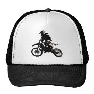 Motocrós de la motocicleta gorros bordados