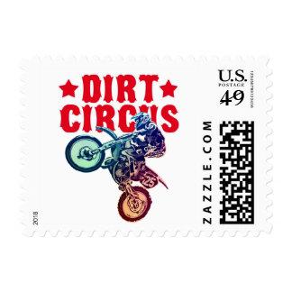 Motocrós de la suciedad sello postal