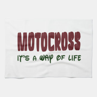 Motocrós es una manera de vida toalla