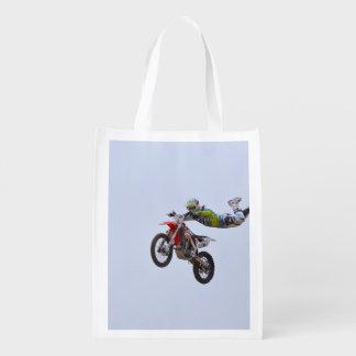 Motocrós loco bolsas reutilizables