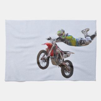 Motocrós loco toalla