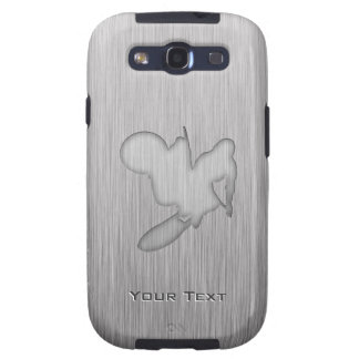 Motocrós; Metal-mirada cepillada Galaxy S3 Fundas