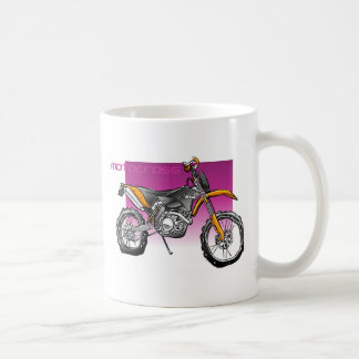 motocrós taza básica blanca