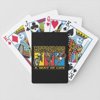 Motocrós una manera de vida barajas de cartas