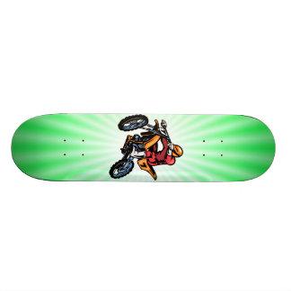 Motocrós verde de neón monopatín