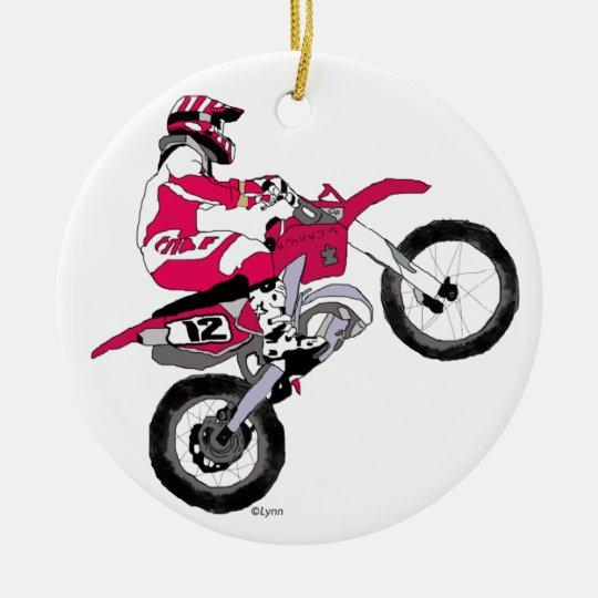Motocross300 copy ceramic ornament