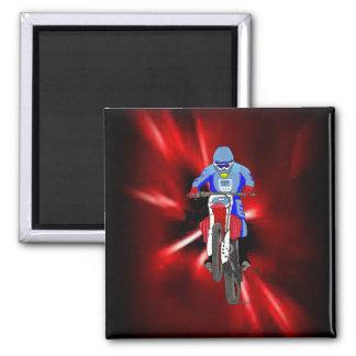 Motocross 101 2 inch square magnet