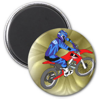 Motocross 202 2 inch round magnet