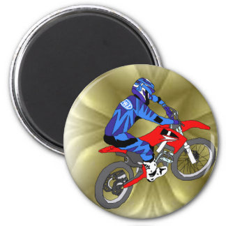 Motocross 202 2 inch round magnet
