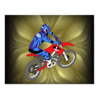 "Motocross 202 4.25"" x 5.5"" invitation card"