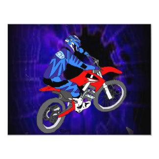 Motocross 203 4.25x5.5 paper invitation card