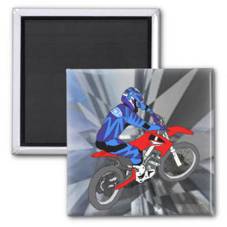 Motocross 204 2 inch square magnet