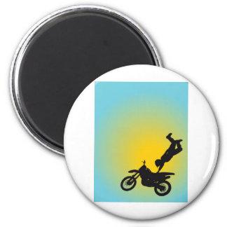 Motocross 2 Inch Round Magnet