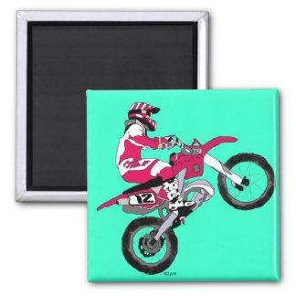 Motocross 300 2 inch square magnet