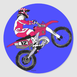 Motocross 300 round sticker