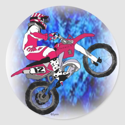 Motocross 306 classic round sticker