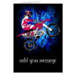Motocross 306 greeting card