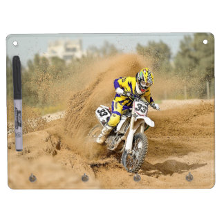 Motocross 33 dry erase board with keychain holder