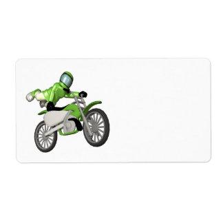 Motocross 3 shipping label