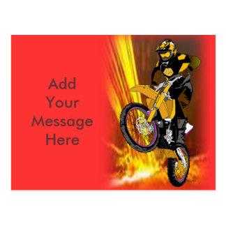 Motocross 404 postcard