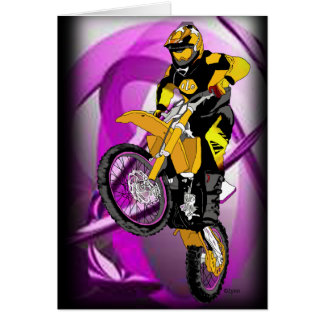 Motocross 405 greeting card