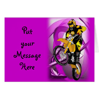 Motocross 405 greeting cards
