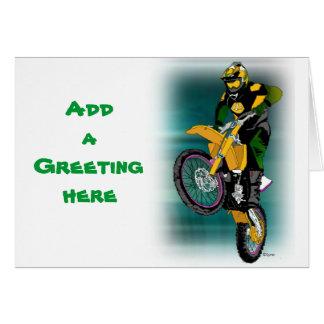 Motocross 408 greeting cards