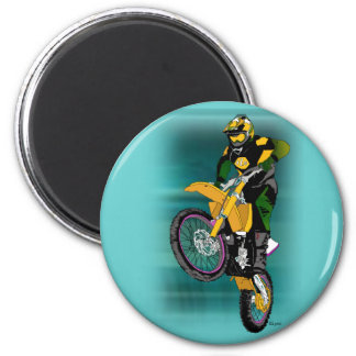 Motocross 408 2 inch round magnet