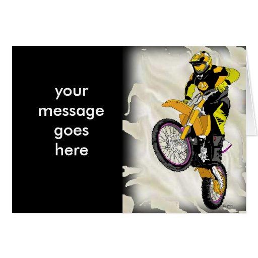Motocross 409 greeting cards