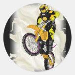 Motocross 409 round stickers