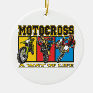 Motocross A Way of Life Ceramic Ornament