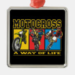 Motocross A Way of Life Christmas Ornaments