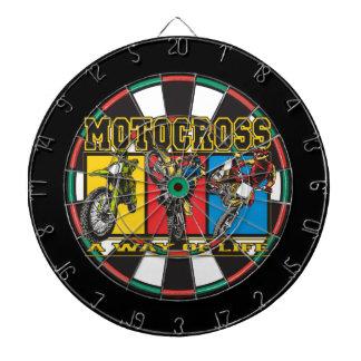 Motocross A Way of Life Dartboard