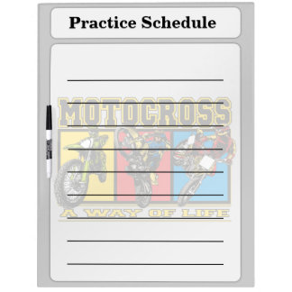 Motocross A Way of Life Dry-Erase Board