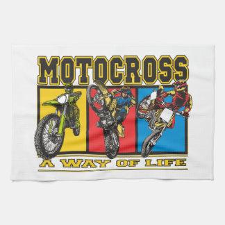 Motocross A Way of Life Hand Towel