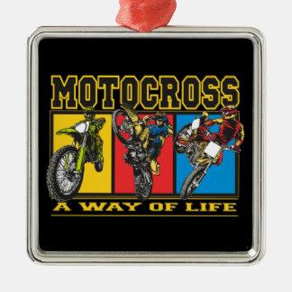 Motocross A Way of Life Metal Ornament