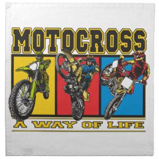 Motocross A Way of Life Printed Napkins