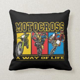 Motocross A Way of Life Throw Pillow