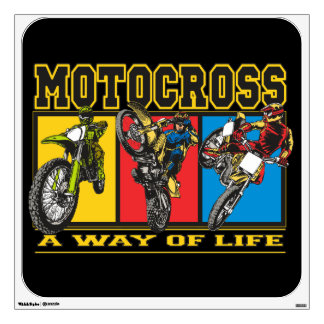 Motocross A Way of Life Wall Decal