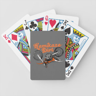 Motocross addict bicycle playing cards