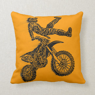 Motocross addict throw pillow